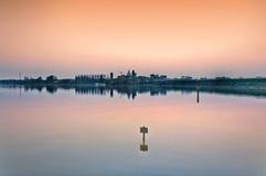 Mantova skyline at dusk - Italy Stock Photo