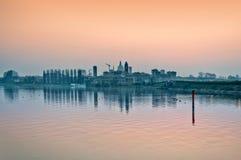 Mantova skyline at dusk - Italy Royalty Free Stock Photo