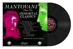 Mantovani играет бессмертные классики стоковые фотографии rf