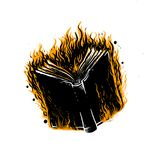 Mantra black rage book design Royalty Free Stock Photos