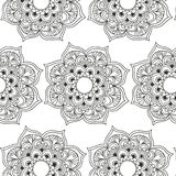 Mantra pattern. Black and white Royalty Free Stock Photo