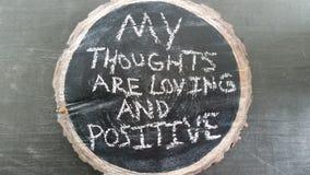 Mantra positivo Fotografia Stock Libera da Diritti