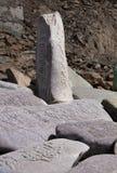 Mantra prayer stones, Lamayuru, India Royalty Free Stock Photos