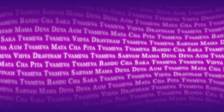 Mantra Wave - Tvameva - purple Royalty Free Stock Image
