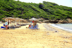 Mantraki  beach, Skiathos, Greece. Stock Photos