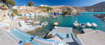 Mantrakia, Milos island, Cyclades, Greece Royalty Free Stock Photography
