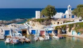 Mantrakia, Milos island, Cyclades, Greece Stock Images