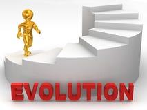 mantrappa för evolution 3d Arkivbild