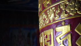 Mantras budistas para el sanscrit de Tíbet del rezo almacen de metraje de vídeo