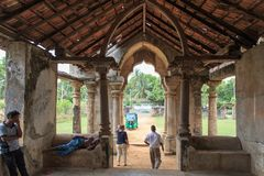 Mantri Manai的废墟或Manthiri Manai -贾夫纳-斯里兰卡 库存图片