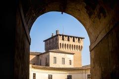 MANTUA: Średniowieczny kasztel, Gonzaga George Giorgio Świątobliwy kasztel w Włochy, Mantua Mantova zdjęcia stock
