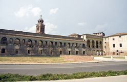 Mantua. Part of the Ducal Palace complex, the Castle of San Giorgio was erected between 1395 and 1406 to designs by Bartolino da Novara. It it best known for royalty free stock images