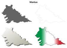 Mantua blank detailed outline map set. Mantua province blank detailed outline map set Stock Photos