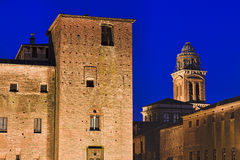 Mantua Castle Basilica Tops Royalty Free Stock Photo