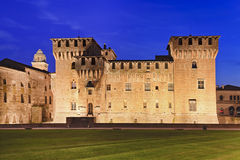 Mantua Castle Front Set Royalty Free Stock Photos
