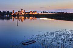 Mantua Castle Lake Pan Royalty Free Stock Photography