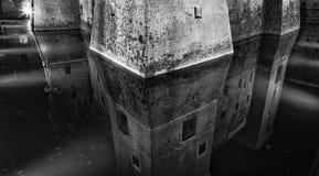 Mantua Castle Moat BW Royalty Free Stock Photo