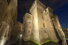 Mantua, the castle by night Stock Photos