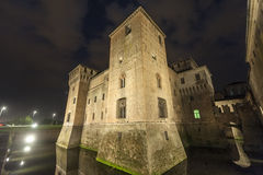 Mantua, the castle by night Stock Photo