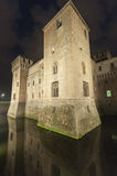 Mantua, the castle by night Royalty Free Stock Image
