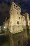 Mantua, the castle by night Royalty Free Stock Photos
