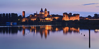 Mantua Castle 02 Pan Set Royalty Free Stock Image