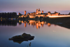 Mantua Castle Water Dark Royalty Free Stock Images