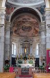 Mantua Cathedral, Italy. Interior of Mantua Cathedral dedicated to Saint Peter, Mantua, Italy Royalty Free Stock Photography