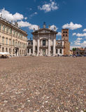 Mantua Cathedral and Palazzo Bianchi, Italy Stock Image