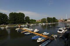 Mantua-Hafen, Italien Lizenzfreie Stockbilder
