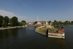 Mantua-Hafengebiet, Italien Lizenzfreie Stockfotos