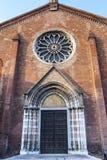 Mantua, historic church. Mantua (Lombardy, Italy), facade of historic church Royalty Free Stock Image