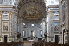 Mantua, inside the cathedral Stock Photos