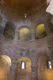Mantua, inside the chapel. Mantua, ancient chapel, ancient baptismal font Stock Photo