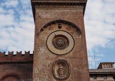 Mantua, Italy - April 29, 2018: Interior of Church of Sant Andrea Montegna of Mantua, Lombardy, Italy. Details in Interior of Church of Sant Andrea Montegna of Royalty Free Stock Image