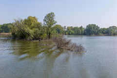 Mantua, Italy, Mincio river Stock Photos