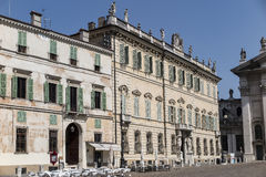 Mantua, Italy, Sordello Square. With its ancient buildings Royalty Free Stock Images