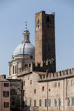 Mantua, Italy, Sordello Square. Tower and Dome Stock Photography