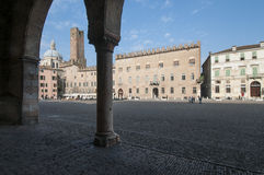 Mantua Lombardie Italie l'Europe de place de Sordello Photos stock