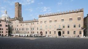 Mantua Lombardie Italie l'Europe de place de Sordello Images libres de droits