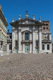 Mantua -Lombardy, Italy - Beautiful Cathedral in the Main Square of the city, Piazza Sordello.  Stock Images