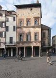 Mantua quadrato Lombardia Italia Europa delle erbe Fotografia Stock