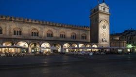 Mantua quadrato Lombardia Italia Europa di notte delle erbe Immagini Stock Libere da Diritti