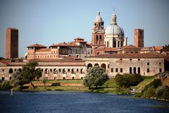 Mantua, Skyline Stockbilder