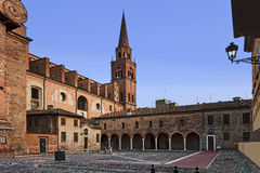 Mantua St Andrea Courtyard Set Royalty Free Stock Photos