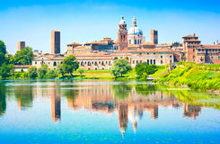 Mantua Stadtbild in Lombardei, Italien Lizenzfreies Stockfoto