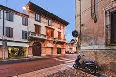 Mantua Streets Set Vespa Stock Image