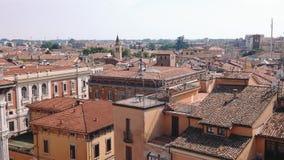 Mantua tak, kyrkor och terrasser lager videofilmer