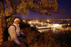 Turist i Budapest Royaltyfria Bilder