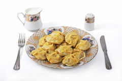 Manty 2. The Asian dish from meat and the test, prepared on pair, as Italian ravioli Stock Images
